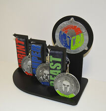 Spartan Race Trifecta Soldier Display ,OCR, Race, Made For Spartan Medals