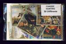 Chasse - Hunt 50 timbres différents oblitérés