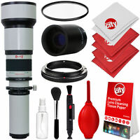 Opteka 650-2600mm Telephoto Lens Kit for Canon EOS 80D 77D 70D 60D 50D 40D 30D