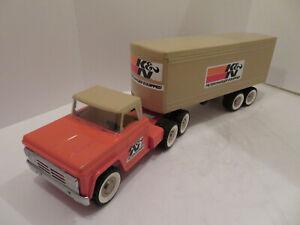 Structo, Tonka, Marx, Buddy L, custom restored 18 wheel tractor and trailer