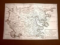 Macedonia ed Epiro Acquaforte del 1779 Mappa Louis Brion de la Tour Moutard