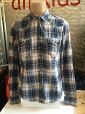 H&M Logg Hemd Bluse Gefüttert Blau Rot Kariert Gr 34 Damen 1A Zustand