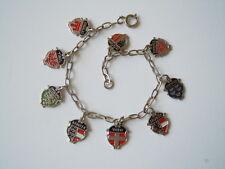 Modeschmuck Armband mit Wappen Tirol,Kärnten,Wien usw 13,3 g /L:21 cm