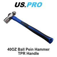 US PRO 40OZ Ball Pein Hammer With TPR Handle Mechanics / Engineers 3301