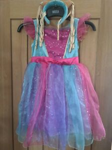 Kids Lapland Fairy Costume Pink/blue Fancy Dress Outfit age 3-5 years.