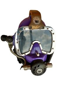 Commercial Fiberglass Diving Helmet, made by Submarine Systems in the UK