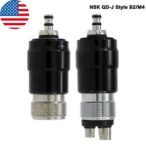 NSK QD-J Style Dental Quick Coupling Connector 2/4 Hole For High Speed Handpiece