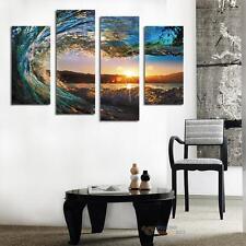 4Pcs Modern Abstract Frameless Sunset Scenery Art Oil Painting Wall Home Decor