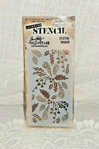 Stampers Anonymous Layering Stencil Festive/ Jim Holtz Collection New in Package