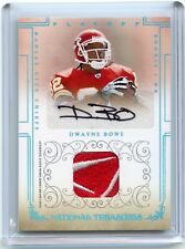 2007 National Treasures #111 Dwayne Bowe RC AUTO PATCH!!! 1/1!!! (CHIEFS)