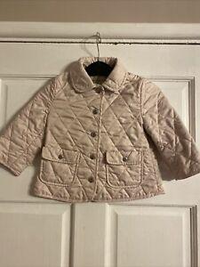 Baby Girls Burberry Coat Age 18 Months Designer Pink Blush