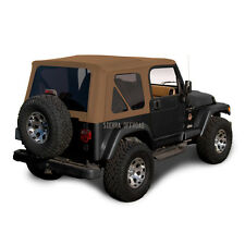 Jeep Wrangler TJ Soft Top, 1997-2002, Tinted Windows, Saddle