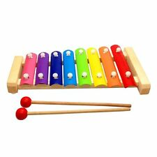 Wooden MultiColor Xylophone Wooden Musical Instrument Toys For Baby Kids 8 Tones