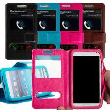 Flipcase Silikon-Halterung Window Cover Hülle Schutzhülle Handy Tasche Flip Case