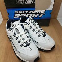 Skechers Men's Energy Afterburn Lace-Up Sneaker Size 15 EW White/Navy