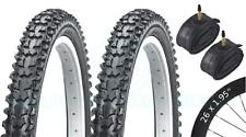 2 Bicycle Tyres Bike Tires - Mountain Bike - 26 x 1.95 VC-2004 - Presta Tubes