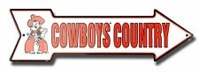 """OSU Oklahoma State Cowboys Country 20"""" x 6"""" Embossed Metal Arrow Sign"""