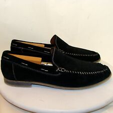 DONALD J PLINER MENS BLACK SUEDE SHOES LOAFERS SIZE 10M  C121