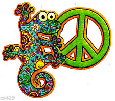 """5"""" PEACE SIGN LIZARD  FLOWERS WALL SAFE STICKER CHARACTER BORDER CUT OUT"""