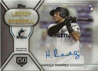 2019 Topps Update HAROLD RAMIREZ Legacy of Baseball Auto 080/150 Marlins RC
