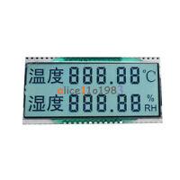 GDC03849 Double Row Segment  Temperature Humidity Display LCD 3.3V 1/4 Duty