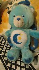 """Bedtime Blue Care Bears 13"""" Good Night Bear Plush Mini BACKPACK Purse"""