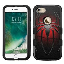 for iPhone 8 Rugged Rubber+Hard Hybrid Case Spiderman #L