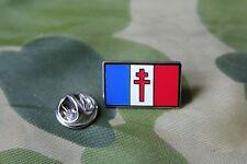 BADGE EN METAL  DRAPEAU FRANCE LIBRE EN EMAIL  1 OEILLET PIN'S