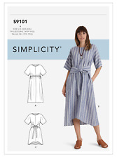 EASY Simplicity Pattern S9101 Misses Dress in 2 Styles XXS-XXL Size 4 - 26 NEW