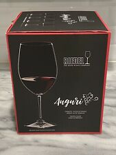 RIEDEL Auguri Red Wine Crystal Glasses Set Of 4 19 3/8 Oz. #0460/0 ~NEW In BOX~