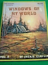 JACKIE CLAFLIN WINDOWS OF MY WORLD V2 1987 OIL SCHEEWE LANDSCAPES PAINT BOOK