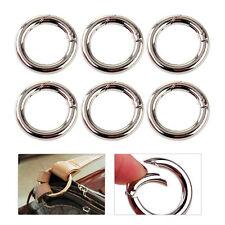 10x Rundkarabiner Stahl Karabinerhaken Schnapphaken Schlüssel Outdoor Ringe