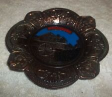 ANTIQUE COPPER SOUVENIR ASH TRAY TENNESSEE OLD GRIST MILL LANDMARK WALL HANGER