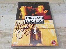 The Clash - Rude Boy - DVD signed by Mick Jones  Big Audio Dynamite Joe Strummer