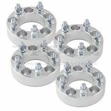 "(4) 1.50"" 38mm Wheel Spacers 5x4.5 to 5 x 4.5 Adapters 5lug 12x1.25 Studs"