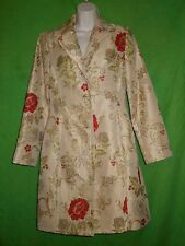 Apostrophe size 2 coat trench peacoat lining multi color floral
