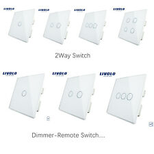 LIVOLO UK Standard 1/2/3/4 Gang 1/2Way Remote Dimmer Touch Switch