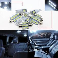 White LED Interior Light Kit Package 12pcs 6000k FIT GMC Yukon 07-14 W1