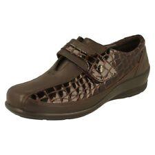 Zapatos planos de mujer de color principal marrón de piel