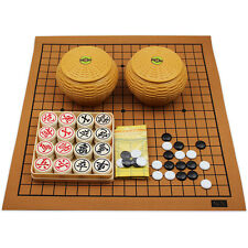 Chinese Go Game Set Flannel Goban Board Resin Stone+Chinese Chess