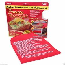 POTATO EXPRESS MICROWAVE BAG COOKING KITCHEN REUSABLE WASHABLE