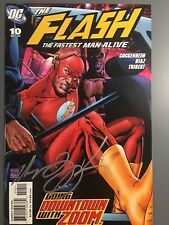 The Flash The Fastest Man Alive #10 Signed by Marc Guggenheim 2007 DC High Grade
