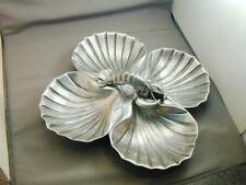 Vintage Bruce Fox Lobster & 4 Sea Shell Well Serving Tray
