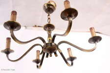 Wunderschöner antiker Chippendale Messing Kronleuchter / Deckenlampe / Lampe / 6