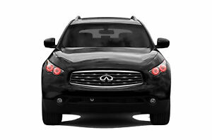 for Infiniti QX70 13-17 Red LED Halo kit for Headlights