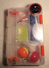 South Bend READY 2 FISH CASE Fishing Bait Hooks Accessories Lure Parts Kit Set
