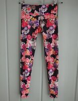 c71c29d4e8 Onzie Yoga Womens XS Black Photo Floral Leggings Stretch Pants Roses  Athleisure