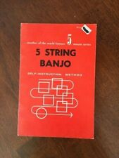 Two 5 String Banjo books and chord chart