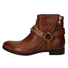 scarpe donna CRUZ 37 stivaletti marrone pelle AD81-C