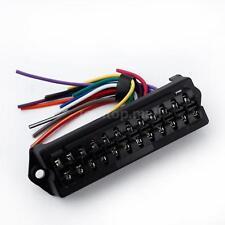 12 Way DC32V Circuit Car Trailer Auto Blade Fuse Box Block Holder Wire HM Y9P0